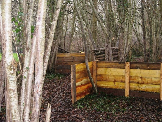 terrain de paintball en foret